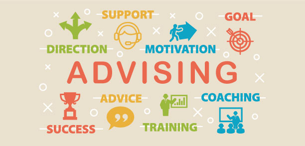 Decorative image - Advising, support, goal, direction, advice, coaching, success, training