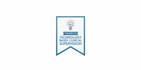 Technology based clinical supervision badge